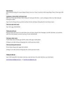 Thông báo nộp hồ sơ tham gia Triển lãm Quốc Tế tranh màu nước-2