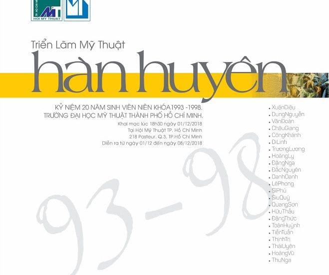 """TRIỂN LÃM MỸ THUẬT NHÓM """"HÀN HUYÊN – 93-98"""""""